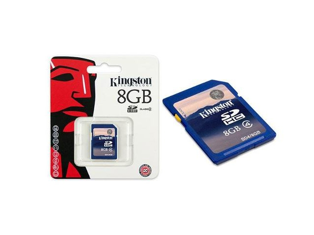 Cartao de Memoria 8GB SDHC Classe 4 Secure Digital SD4/8GB - Kingston