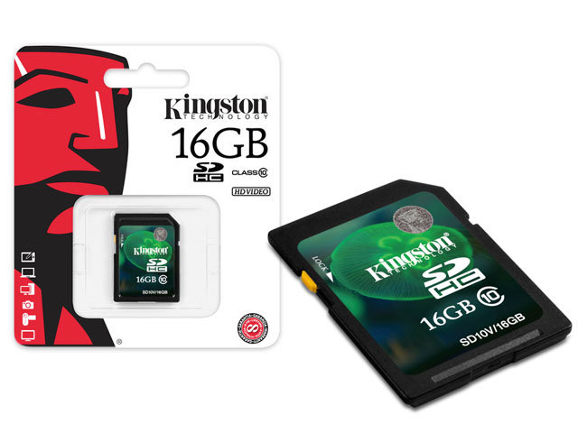 Cartao de Memoria 16GB SDHC Classe 10 Secure Digital SD10V/16GB - Kingston