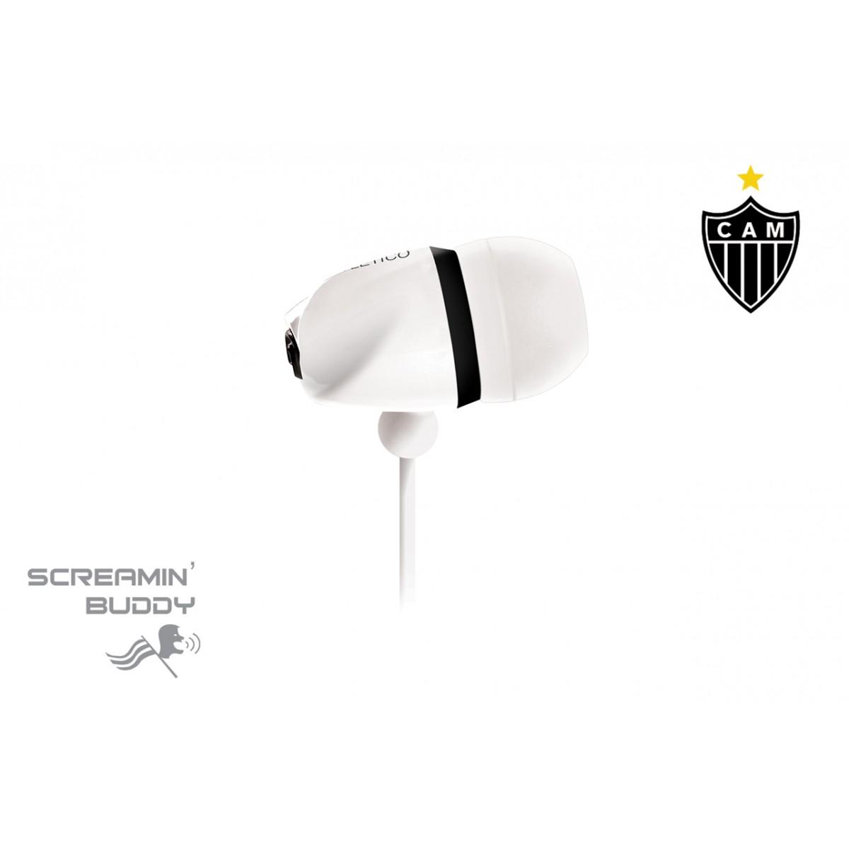 Fone de Ouvido Screamin Buddy Atletico Mineiro - SB-10/ATM - Waldman -