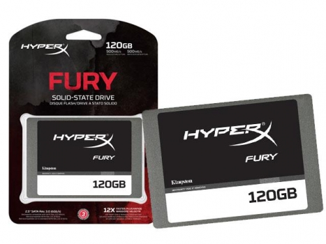 SSD 120GB Gamer Hyper X Fury Sata III 2.5 Blister SHFS37A/120G - Kingston