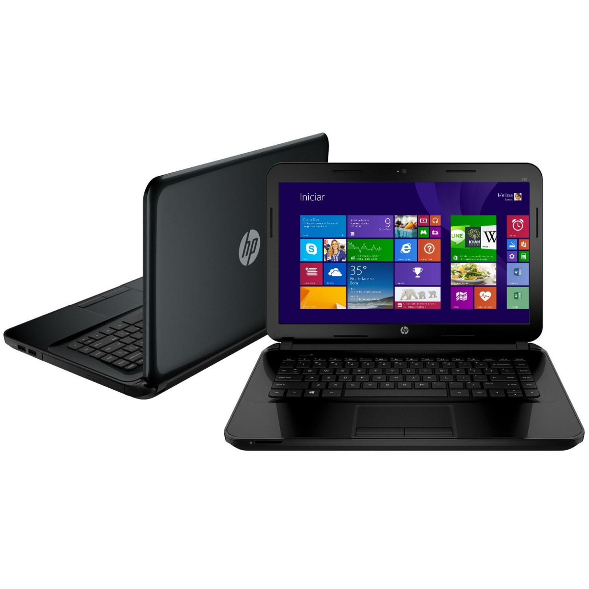 Notebook 14-d030br com Intel Core i5 4GB 500GB LED 14 Windows 8 - HP