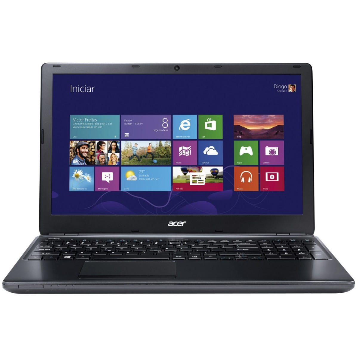 Notebook Aspire E1-572-6 BR691 I5-4200U 4GB 500GB Gravador DVD Leitor  HDMI Wireless LED 15.6 Wind8 Antivirus - Acer