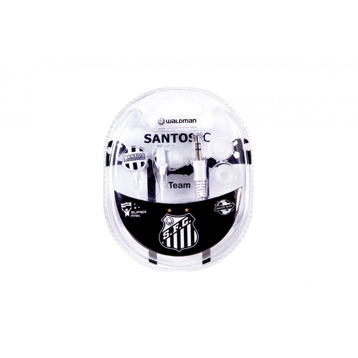 Fone de Ouvido Super Fan Santos SF-10/SAN - Waldman