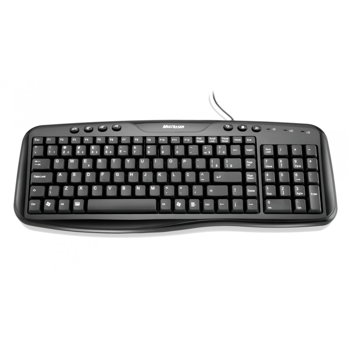 Teclado Super Multimidia Preto Piano USB TC127 - Multilaser