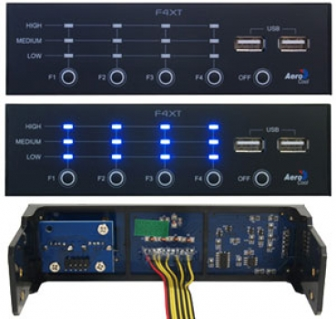 Controlador de Fan F4XT EN55390 - Aerocool