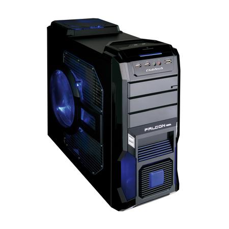 Gabinete ATX Gamer CBGB-FAL09A-AZ S/Fonte - ClubTech
