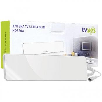Antena para TV Ultra Slim HDS30W Branca 20994 - TVYES