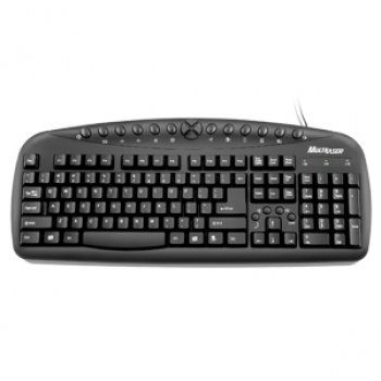 Teclado Multimidia Preto PS2 TC080 - Multilaser
