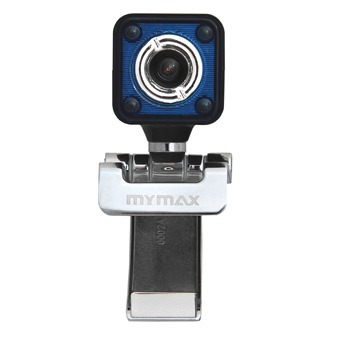 Webcam USB C/Microfone Preto/Azul(WBCQ58/USB) - Mymax