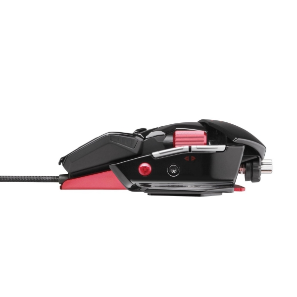 Mouse Gamer Laser Cyborg R.A.T. 5 5600DPI Gloss Black (Ajustavel) MCB4370500B2 - Mad Catz