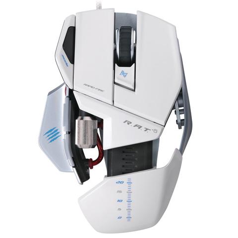 Mouse Gamer Laser Cyborg R.A.T. 5 5600DPI Branco (Ajustavel) MCB437050001 - Mad Catz