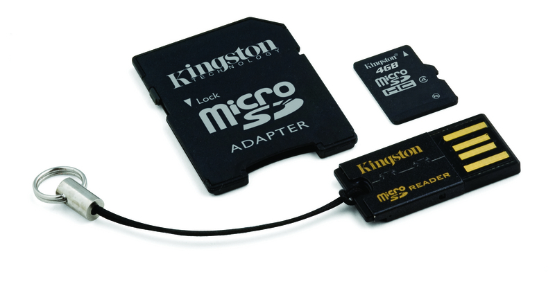 Cartao de Memoria 4GB Micro SDHC Classe 4 com Adpatador SD / USB MBLY4G2/4GB - Kingston