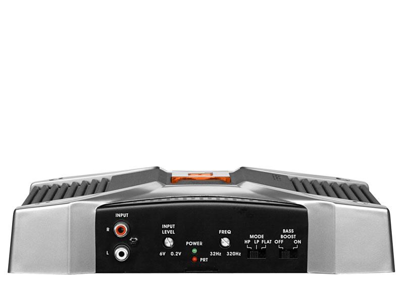 Amplificador GT5-A402 de 2 Canais de 60 Watts c/ Crossover Eletronico Variavel e Equalizador de Graves - JBL