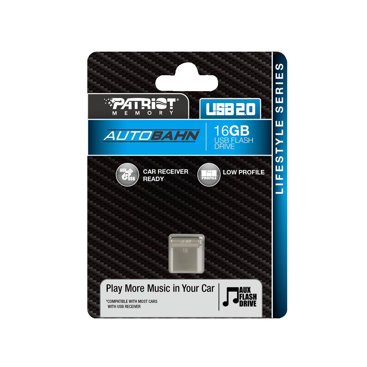 Pen Drive 16GB Autobahn USB 2.0 PSF16GLSABUSB - Patriot