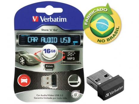 Pen Drive 16GB Car Audio USB Drive 98026 - Verbatim