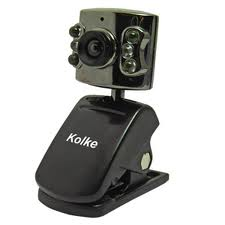 Webcam USB 300K C903 Led Preta e Prata Com Microfone - Kolke