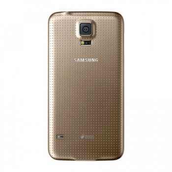 Smartphone Galaxy S5 Android 4.4 Dual Chip Processador Quad Core 2.5 Ghz e Câmera de 16 MP com Flash Dourado LED G900MD