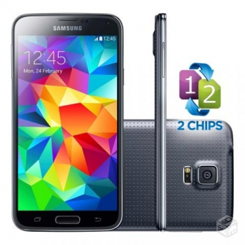 Smartphone Galaxy S5 com Android 4.4, Dual Chip, Quad Core 2.5 Ghz e Câmera de 16MP com Flash Preto LED G900MD - Samsung