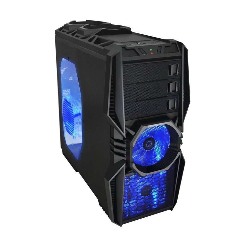Gabinete ATX Gamer Super Aeolus 818WB sem Fonte Preto - Raidmax