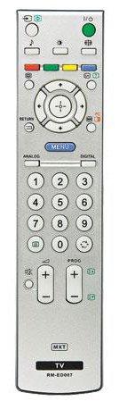 Controle Remoto Para TV De Plasma Sony C0780 - MXT -