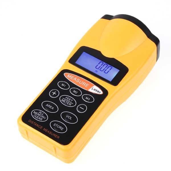 Medidor de Distancia com Laser Pointer (Trena Digital) Ultrasonic CP-3007