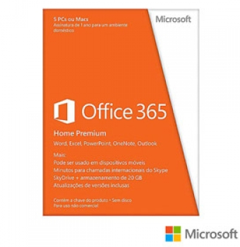 Microsoft Office 365 Home Premium para PC ou MAC com Cinco Licencas - 6GQ-00408 - Microsoft
