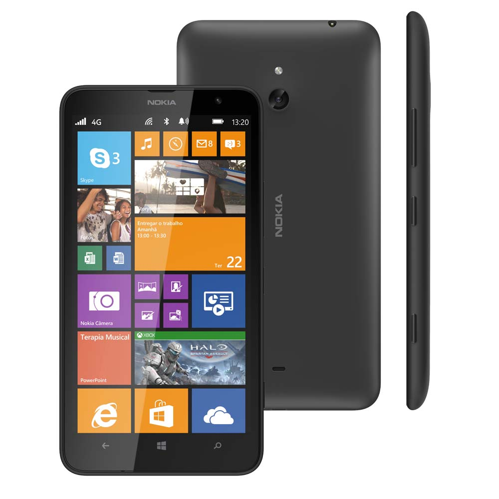 Smartphone Lumia 1320 Desbloqueado Preto, Windows Phone 8, Tela 6, Wi-Fi, 4G, GPS, Camera de 5MP e Memoria interna 8GB