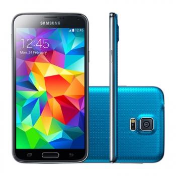Smartphone Galaxy S5 com Android 4.4, Processador Quad Core 2.5 Ghz e Câmera de 16 MP com Flash Azul LED G900M - Samsung