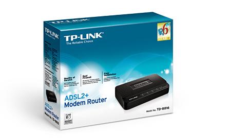 Modem Roteador ADSL2+ TD-8816 Preto - Tplink