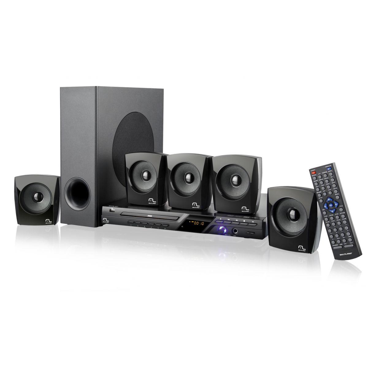 Caixa de Som Mini System 5.1 120W RMS com DVD Player/FM/Karaoke SP148 - Multilaser