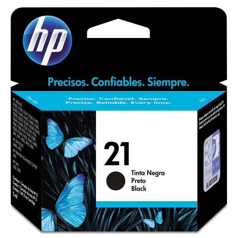 Cartucho 21 Preto C9351AB 7ML - HP