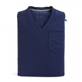 Case/Sleeve CA-VN13-BL em Algodão 100% Design Gola V para Notebook (Azul 13/14) - V-Neck