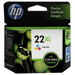 Cartucho 22XL HP Tricolor Alto Rendimento C9352CB - HP