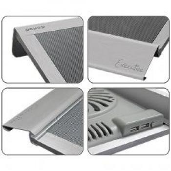 Cooler Para Notebook At� 17 Polegadas Executive em Alum�nio Prata 200mm (18540) - Pcyes
