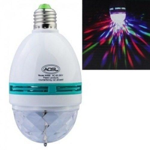 Lampada de Led Colorido Rotativa para Festas e Eventos LU17