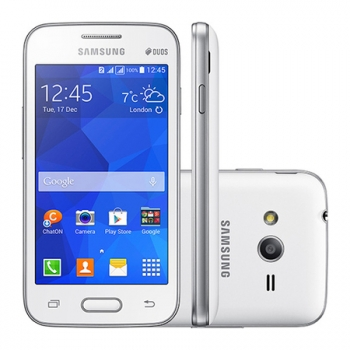 Smartphone Galaxy Ace 4 Lite Duos Dual Chip Branco Android 4.4 3G/Wi-Fi C�mera 3MP 4GB SM-G313ML/DS - Samsung