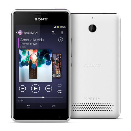 Smartphone Xperia E1 Dual Chip TV D2114 3G Android 4.3 Qualcomm 1.2GHz 4GB Câmera 3MP Tela 4 TV Digital Branco - Sony