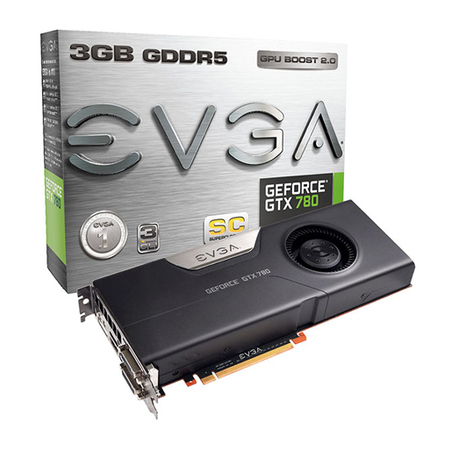 Placa de Vídeo Geforce GTX780 3GB DDR5 SC(SuperClocked) 384Bits 03G-P4-2785-KR - EVGA