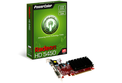 Placa de Vídeo ATI HD5450 1GB DDR3 AX54501GBK3SHEV4 - PowerColor