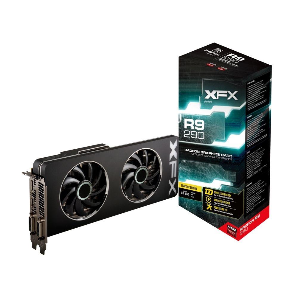 Placa de V�deo ATI R9 290 4GB DDR5 Black 512Bits R9290AEDBD - XFX