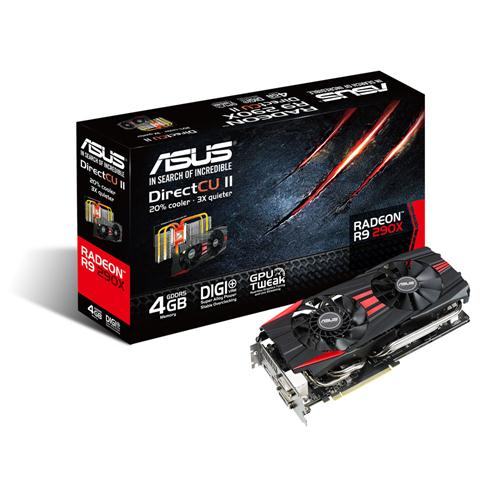 Placa de V�deo ATI R9 290X 4GB DDR5 512Bits R9290X-DC2-4GD5 - Asus
