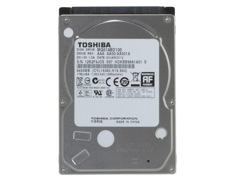 Hard Disk para Notebook 1TB Sata II 5400RPM MQ01ABD100 - Toshiba