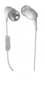 Fone de Ouvido T100A com Microfone Branco - JBL