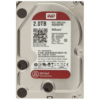 Hard Disk 2TB Red (Nas) Sata III 7200RPM 64MB WD20EFRX - Western Digital