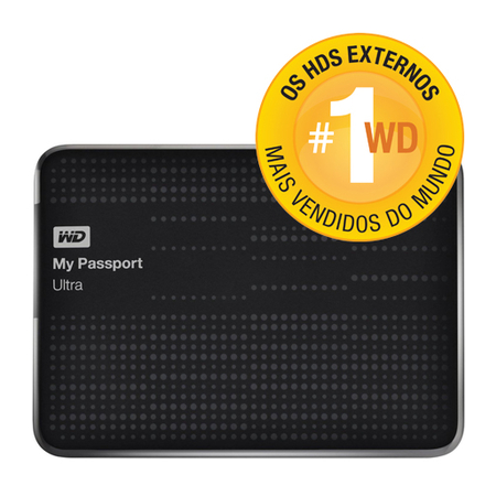 HD Externo 500GB Portátil My Passport Ultra USB 3.0 WDBZFP5000ABK-NEBZ Preto - Western Digital