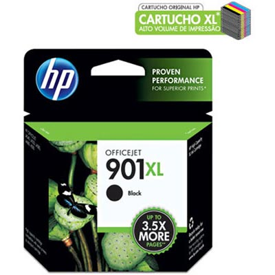 Cartucho de Tinta HP 901XL Officejet PRETO 15.5ml CC654AB - HP