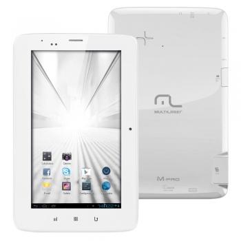 Tablet M-Pro 3G NB072 Tela 7, 4GB, Câmera 2MP, GPS, Rádio FM, Bluetooth, Wi-Fi e Android 4.1 Branco - Multilaser