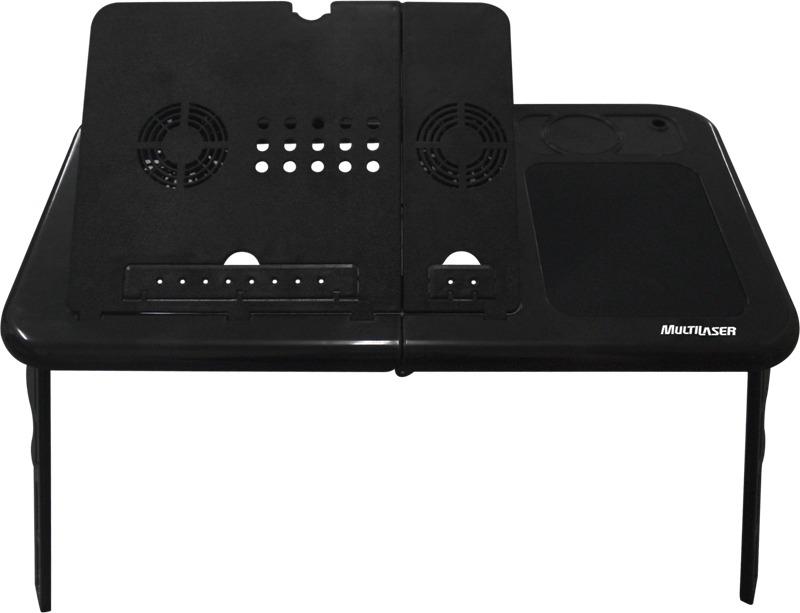 Mesa para Notebook com suporte ajustável, cooler e Hub AC112 - Multilaser