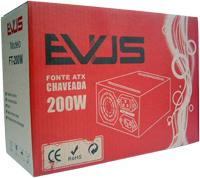 Fonte ATX 200W Real 20/24P 2 Satas c/ Cabo de Força - Evus