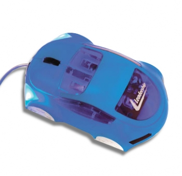 Mouse Carro Optico USB Azul 7541 - Leadership